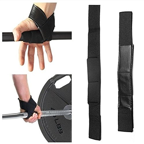 Wrist Support Gloves Wrap Hand Bar Straps For Weight Lifting Training Gym Gym Power Training Weight Lifting Straps Wraps Hand Bar Wrist Support Black
