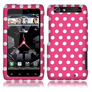 Motorola Droid Razr Maxx Xt913 Pink/white Dots Cover