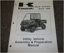 2009 Kawasaki MULE 4010 4X4 MULE 4000 Service Repair Shop Manual ASSEMBLY  09: kawasaki: Amazon.com: BooksAmazon.com