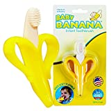 Baby Banana Infant Training Toothbrush and Teether, Yellow Variant Image