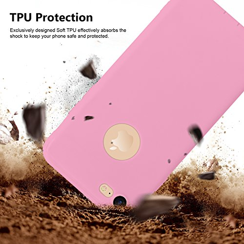 iPhone 7 Case,Aksuo Strong Guard Protection Soft touch Thinnest Cover Premium Light Slim Skin with Nano Anti-scratch Screen Protector -Apple iPhone7 4.7 inch(Pink)