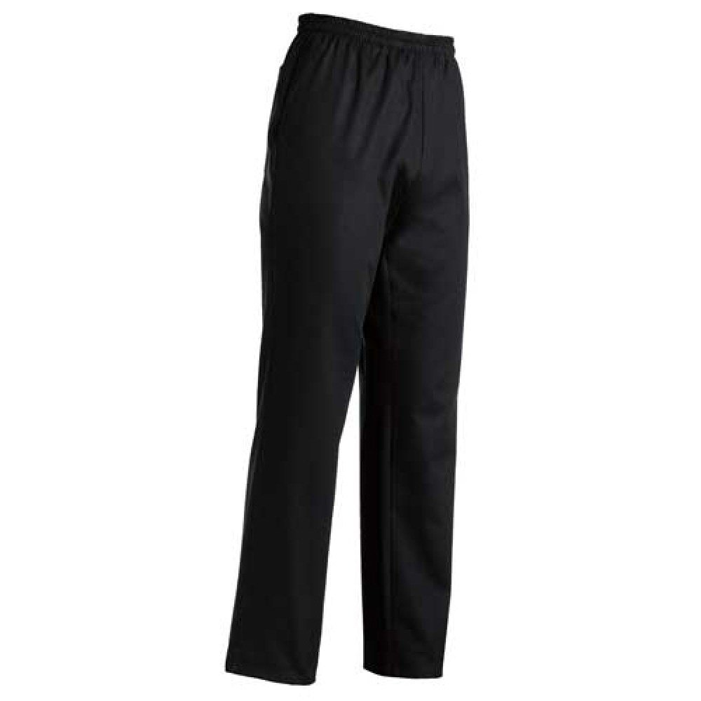 Pantalone da Cuoco Nero Slim - 100% COTONE - Made in italy di nostra produzione - Modello con coulisse e comodi laccetti, tre tasche, materiale fresco e resistente, ideale per il lavoro