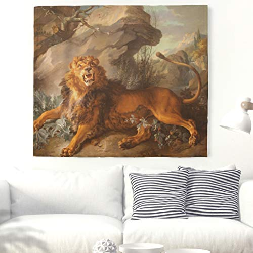 Gifts Gorgeous Lion Mountain (KASTLEE Bohemian Wall Hanging Psychedelic Artistic Lion Mountain Pattern Wall Tapestry Wall Blanket Wall Art Wall Decor Beach Tapestry White 59x51inch)