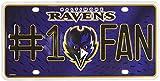 NFL Baltimore Ravens #1 Fan Metal Auto Tag