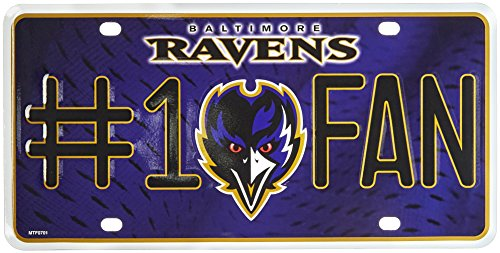 NFL Baltimore Ravens #1 Fan Metal Auto - Mall Baltimore