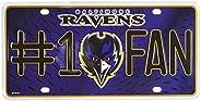 NFL #1 Fan Metal Auto Tag