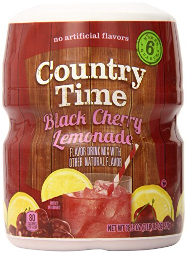 (Country Time Flavored Drink Mix, Black Cherry Lemonade, 18.3 Ounce Container (Pack of 12))
