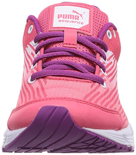 Puma Sequence Jr, Unisex-Kinder Sneakers Pink (fluo pink-white 03)
