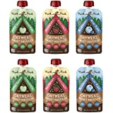 Munk Pack Oatmeal Fruit Squeeze Snack | Variety Pack, Ready-to-Eat Oatmeal On The Go, 4.2 oz, 6 Pack