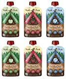 Munk Pack Oatmeal Fruit Squeeze Pouch, Variety Pack, 4.2 oz, 6 Pack