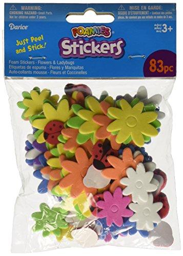 Darice 1045-30 Foam Stickers 83/Pkg, Flower & - Foamies Glue Craft