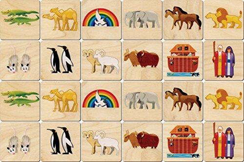 Noah's Ark Memory Tiles - Made in -