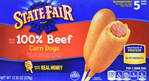 - State Fair, All Beef Corn Dog, 5 ct, 13.35 oz (frozen)
