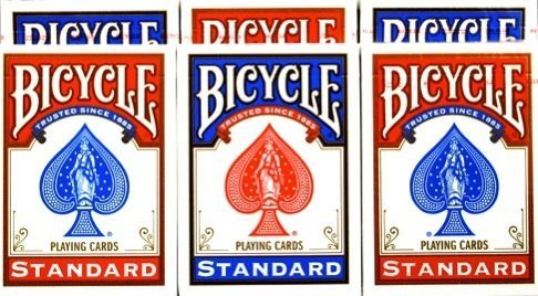- Bicycle Rider Back Poker Playing Cards Pack of 6 ...