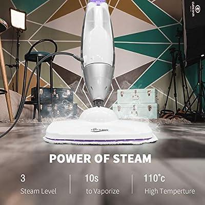 LIGHT 'N' EASY Steam Mop, Powerful Handheld Steam Cleaner Mopper for Hardwood Floors, Laminate, Tile, Grout, Carpet, Garment, Pet, Kitchen, S3601