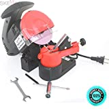 SKEMiDEX---7500 RPM CHAINSAW SHARPENER GRINDER CHAIN SAW 220 WATTS BENCH VISE MOUNT. Easy alignment with swivelling chain clamp and pivoting head Mounts to bench, wall, or vise