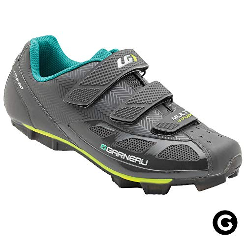 Louis Garneau Women's Multi Air Flex Bike Shoes for Indoor Cycling, Commuting and MTB, SPD Cleats Compatible with MTB Pedals, Asphalt, US (11.5), EU (43)