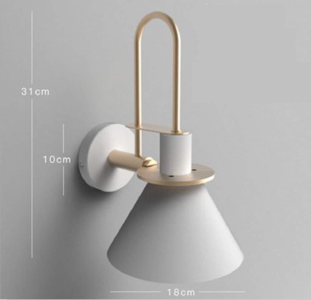 Personalidad estilo minimalista creativo moderno nórdico creativo minimalista sala de estar escalera pasillo dormitorio cabecera macaron hierro forjado lámpara de pared cuerno 9a330b