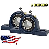 Jeremywell UCP205-16JW-2 2 PIECES UCP205-16, 1 inch Pillow Block Bearing Solid Base, Self-Alignment, Brand NEW!