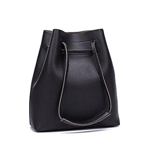 Aoligei Femmes sac à main Fashion seau mère Pack version coréenne Chao Litchi tatouage unique sac à bandoulière B