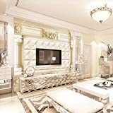 LHDLily 3D Wallpaper Mural Wall Sticker Thickening Continental Stereoscopic Television Roman Upholstered Sofa Bedroom Seamless Background 350cmX250cm