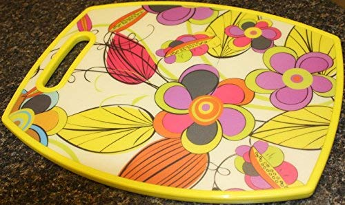 Rectangular Floral Print Cutting Board Serve Bread Large For Meat /& Veggie Prep Crackers /& Cheese Brandobay COMIN18JU002832 Multicolor