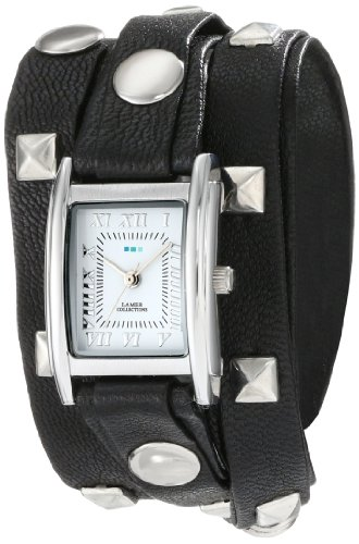 - La Mer Collections Women's LMLW1010B Stainless Steel Watch with Leather Wrap-Around Bands