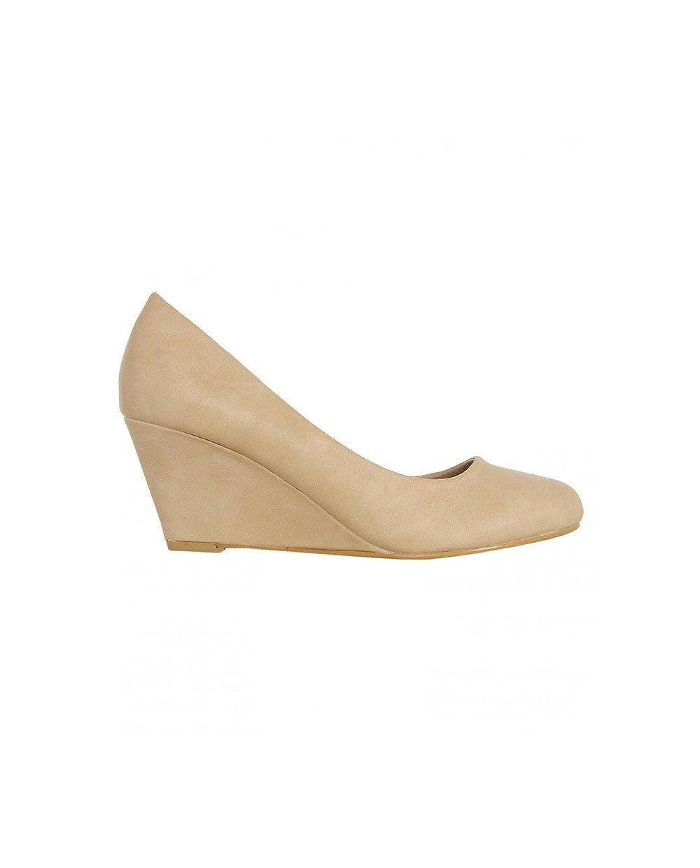 TALLA 40 EU. Zapatos de cuña de Mujer Urban B041170-B7200 Beige