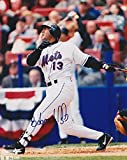 EDGARDO ALFONZO SIGNED 8x10 NEW YORK METS 1999 SHEA STADIUM AT BAT PHOTO GIANTS