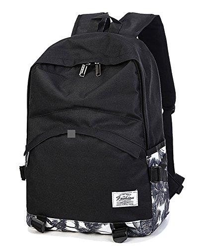 FREEMASTER Daypacks Canvas Vintage 24L Laptop 15.6 17 Rucksack Damen Herren 40*18*33 CM A4 Schultasche for teenager girl Rucksäcke Bag (Schwarz)