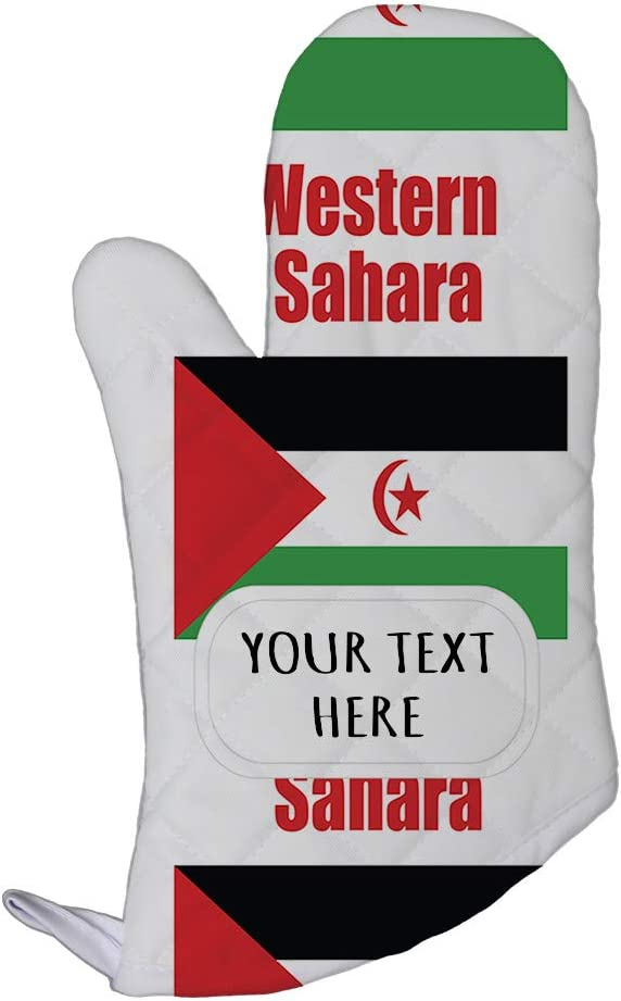 Style In Print Polyester Oven Mitt Custom Western Sahara Country Flag Pattern Adults Kitchen Mittens