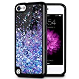 Image of iPod Touch 5/6 Case, Caka iPod Touch 6 Glitter Case [Starry Night Series] Luxury Fashion Bling Flowing Liquid Floating Sparkle Glitter Girly Soft TPU Case for iPod Touch 5/6 - (Blue Purple)
