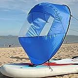 "SHUOGOU 42"" Downwind Wind Paddle Popup Board Kayak Sail Kit Kayak Wind Sail Kayak Accessories, Easy Setup & Deploys Quickly, Compact & Portable"