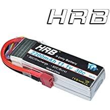 HRB 3S 11.1V 2200mAh 30C-60C RC Lipo Battery with T Deans Plug Connector for RC Airplane RC Helicopter RC Car RC Truck RC Boat Quadcopter