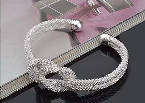 dirtygal Mode Noir Bracelet Infini Motif de Coeur damour Faux Cuir Corde Tricot/ée Punk Charme Enveloppement Bracelet par SamGreatWorld