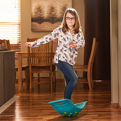 Fat Brain Toys Teeter Popper with Handles, Plastic Concave Balance Board for Children, Green by Fat Brain (Image #5)