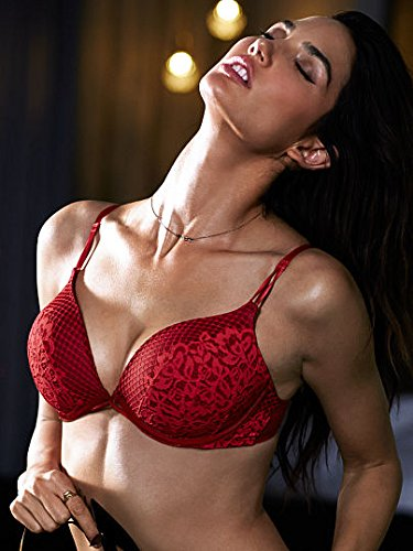 3ea692e0b8 Victoria s Secret Womens Bombshell Limited Edition Add-2 cups Push-up Bra  34AA Ignited Red  Amazon.ca  Clothing   Accessories