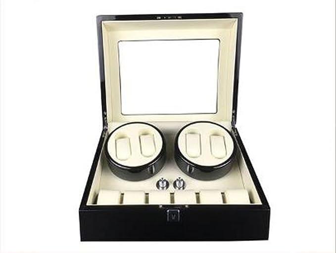 Caja Relojes Automaticos Máquina de Bobina automática Curvo 4 + 6 del Reloj automático del Reloj automático (Color : White): Amazon.es: Relojes