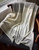Organic Cotton Bamboo Hand-Knitted Throw Blanket for Home - Cream Grey India Throw - Knit Home Decor by Pico Vela