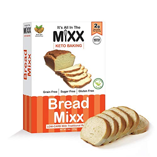 Bread Mixx, Low Carb Keto Bread Mix with Almond Flour, Keto Friendly Mix for Low-Carb Bread, 255 g - It's All In The Mixx 1