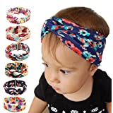 American Trends Baby Girl Newest Turban Headband Head Wrap Knotted Hair Band(C-6 Pairs-Mix Color)