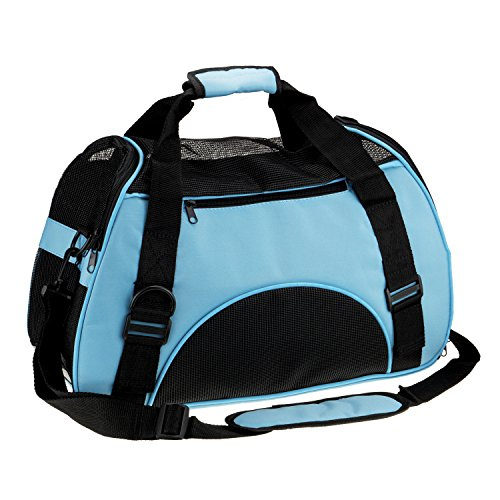 Soft Side Pet Carrier Travel Bag for Small Dogs and Cats Airline Approved Under Seat Blue