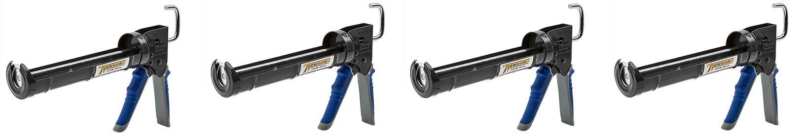 Newborn Pro Super Ratchet Rod Caulk Gun with Gator Trigger Comfort Grip, 1/10 Gallon Cartridge, 6:1 Thrust Ratio (4)