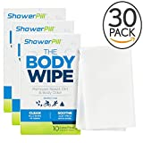 Body Cleaning Wipes with Special Cleansing Solution – Mens Shower Wipes – Special Cleansing Cloths – Camping Wipes for Bathing – 30 Seconds Clean with Body Gym Wipes (30 Pack)