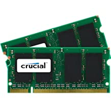 Crucial 4 GB kit (2 GB x 2) DDR2 800MHz (PC2-6400) CL6 SODIMM 200-pin for Mac (CT2C2G2S800M)
