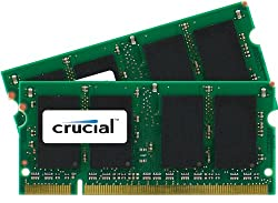 Crucial 4gb Kit (2gbx2) Ddr2 667mhz (Pc2-5300) Cl5 Sodimm 200-pin Memory Upgrade For Mac Ct2k2g2s667m Ct2c2g2s667m