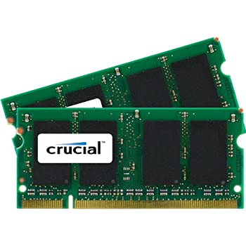 Crucial 4GB kit (2GB x 2) DDR2 800MHz (PC2-6400) CL6 200-pin SODIMM memory upgrade for Mac CT2K2G2S800M / CT2C2G2S800M