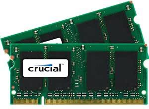 Crucial 4GB kit (2GBx2) DDR2 667MHz (PC2-5300) CL5 SODIMM 200-pin memory upgrade for Mac CT2K2G2S667M / CT2C2G2S667M