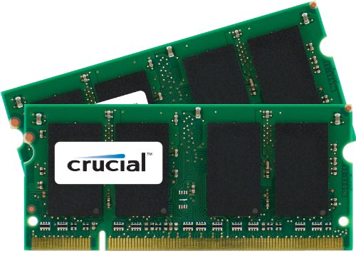 Non Ecc Cl5 200 Pin (Crucial 4GB kit (2GBx2) DDR2 667MHz (PC2-5300) CL5 SODIMM 200-pin memory upgrade for Mac CT2K2G2S667M / CT2C2G2S667M)