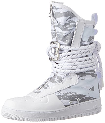 (Nike Men's SF Air Force 1 HI Premium Boot Ibex White AA1130-100 (Size: 8.5))